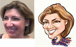 digital caricature michelle armstrong