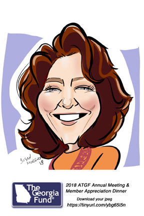 corporate meeting member appreciation the gerogia fund caricatures event