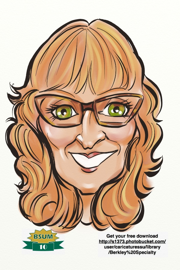 digital caricature  c