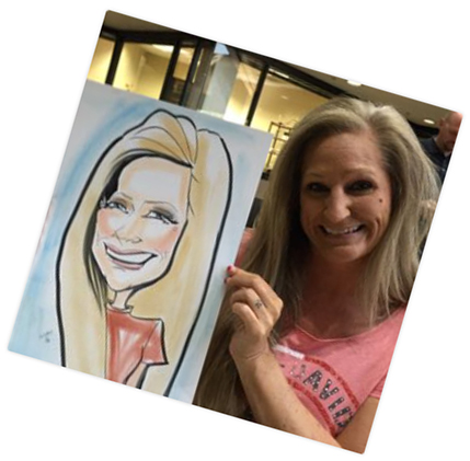 employee appreciation susan moreno caricature artist atlanta