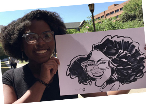 student appreciation susan moreno caricature artist atlanta