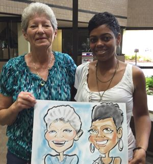susan moreno caricatures atlanta employee appreciation
