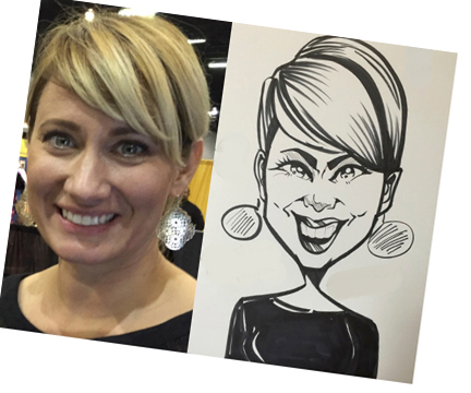 trade-show susan moreno caricature atlanta
