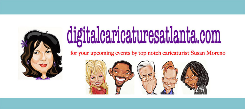 Digital Caricatures In Atlanta By Susan, Digital Caricatures for Parties and Special Events In Atlanta