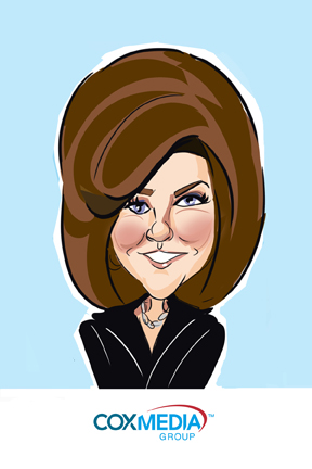 susan moreno caricature digital atlanta cox media conference employee picnic