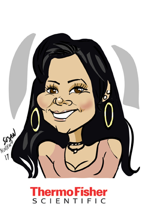 susan moreno caricatures digital atlanta thermo fisher conference