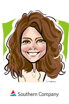 susan moreno digital caricatures atlanta southern co. meeting tradeshow