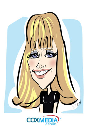 susan moreno digital caricatures atlata corporate picnic tradeshow cox media