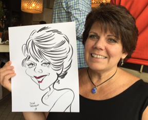 wedding anniversary caricature by susan moreno artist in atlanta